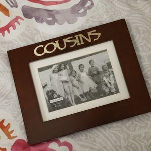 NWT! Malden 4x6 Cousins Photograph Frame